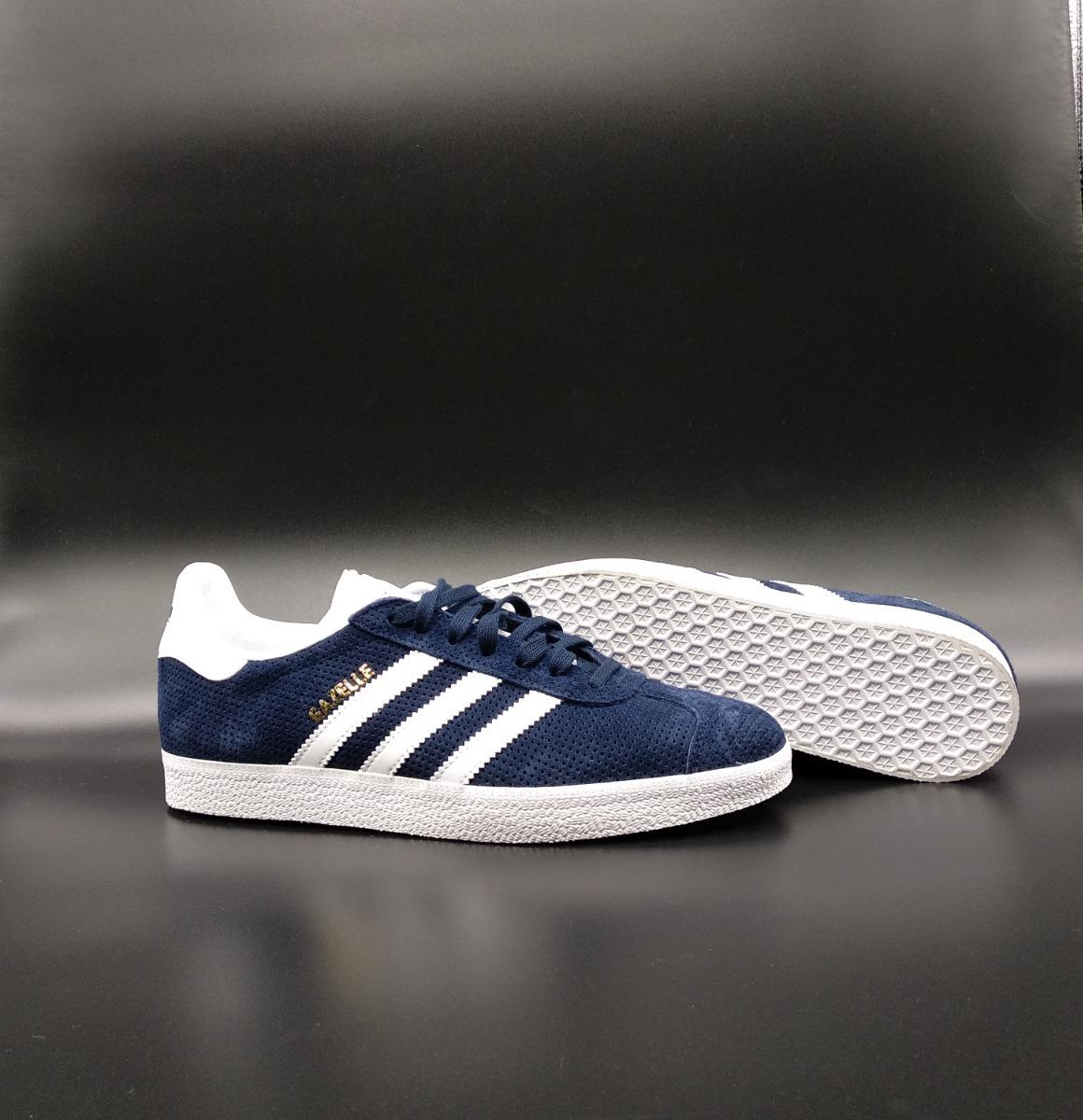 tenis adidas gazelle w azul escuro ou bege originals. Carregando zoom. bc7f078c9f1c5
