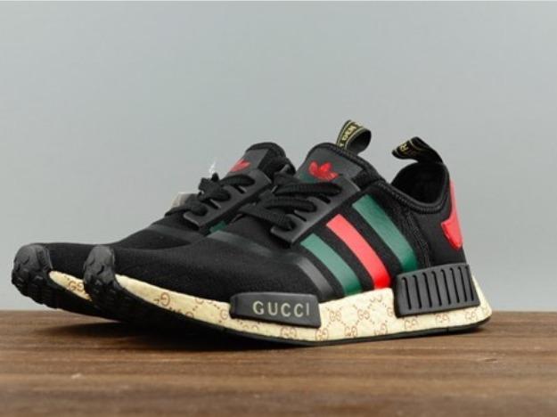 Tenis adidas Gucci Nmd Boost Preto Masculino E Feminino - R  269,90 ... e6f808b366