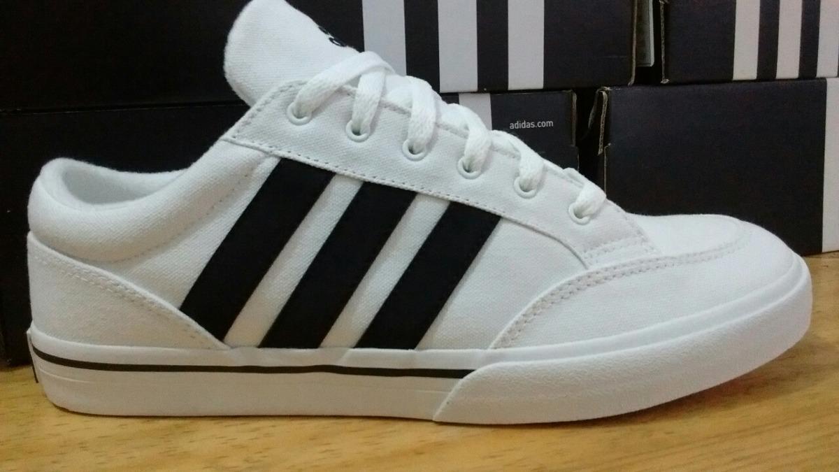 best authentic 062fc e78d1 Tenis adidas Gvp Blanco, Negro Lona -  870.00 en Mercado Lib