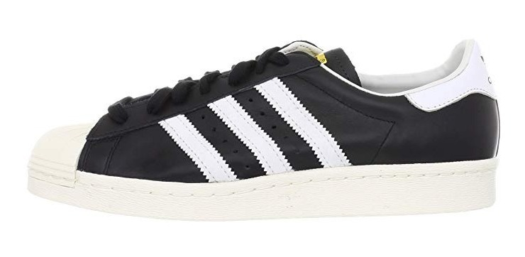 new style 1dc8f 5eb69 Tenis adidas Hombre Negro Blanco Superstar 80s G61069