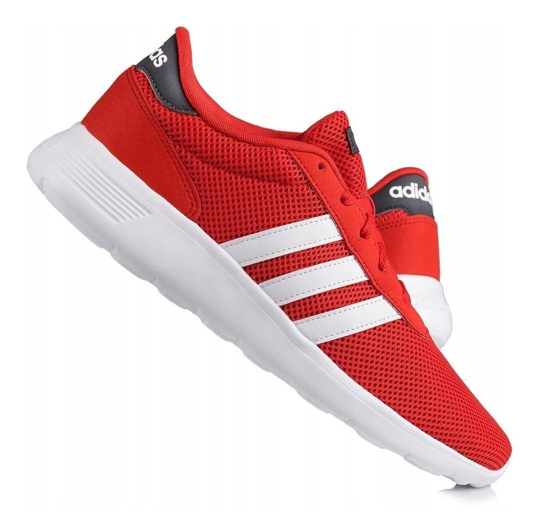 Tenis adidas Lite Racer - Hombre - Rojo - F34647