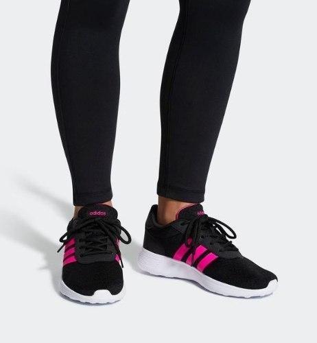 Tenis adidas Lite Racer Mujer Negro/rosa Bb9835 Original