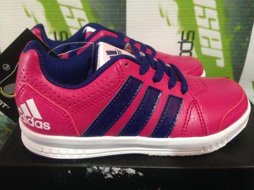 tenis adidas lk trainer 7 casual d niña 100%originales