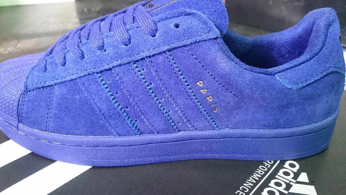 zapatillas adidas superstar azules mujer