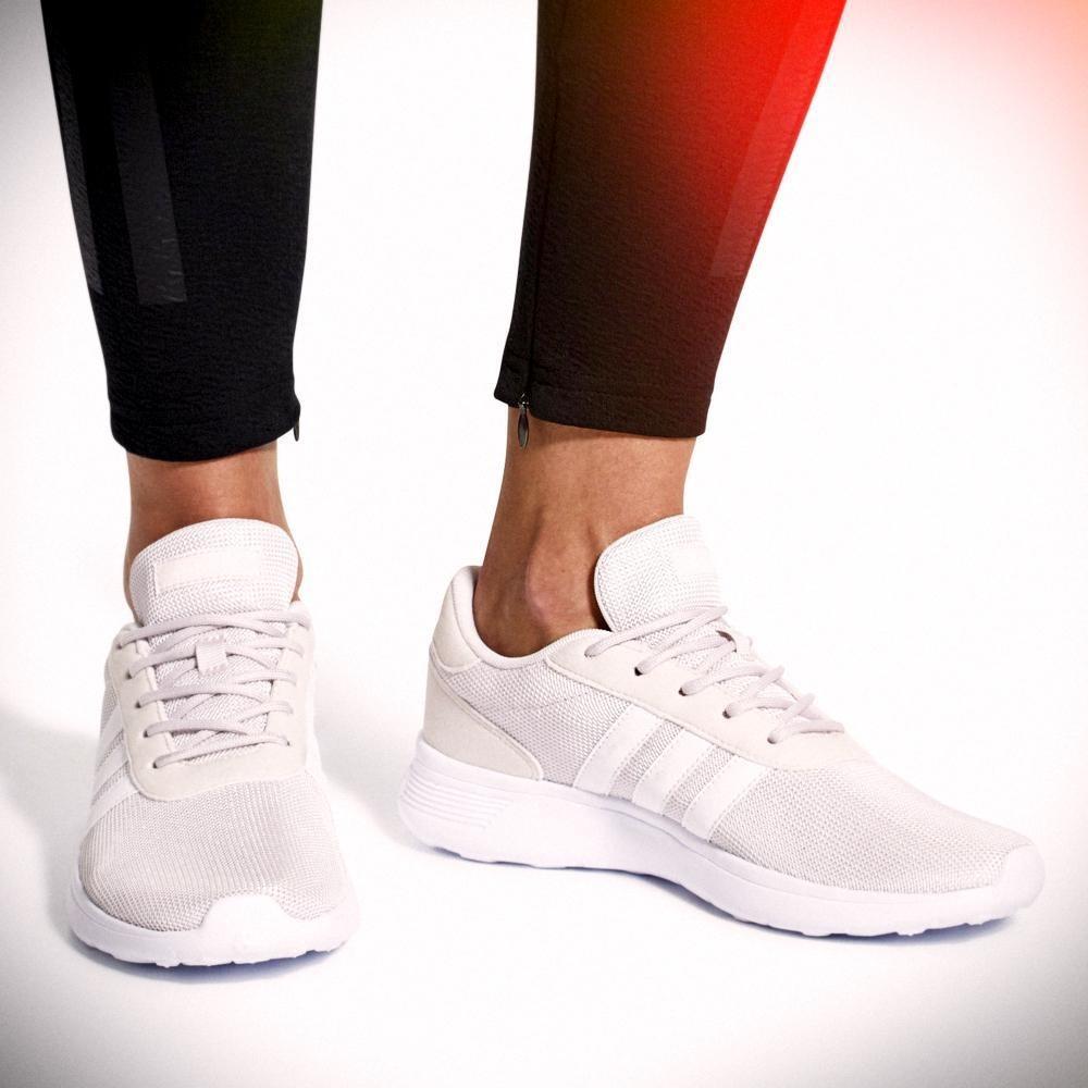 f1e89275c07 Tenis adidas Lite Racer - Db0577 - Blanco Nacar - Mujer -   1