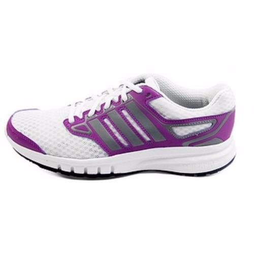 tenis adidas mujer running galaxy w blanco-violeta