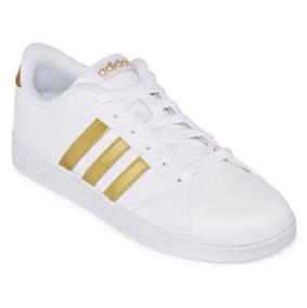 Tenis adidas Neo Baseline Blanco Dorado (nike, Puma, Ua)