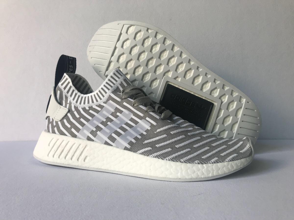 tenis adidas nmd r2 pk primeknit grey-white. Cargando zoom. a2d597b73ed66
