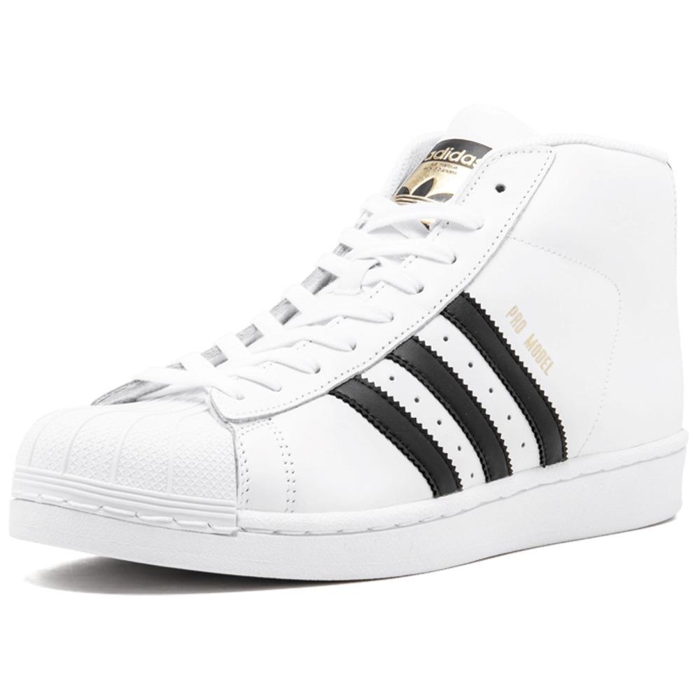 bbd41f349b140 tenis adidas originals pro model blanco negro bota concha. Cargando zoom.