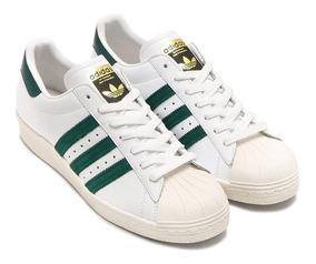 adidas superstar con rayas verdes