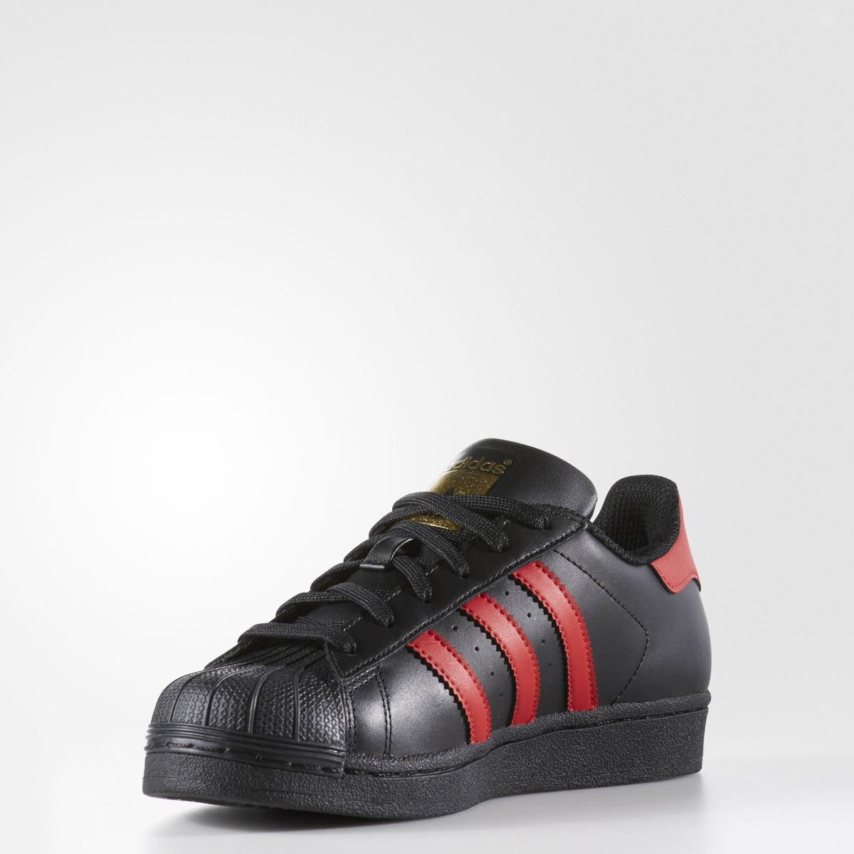 e0a9357631684 tenis adidas originals superstar shoes s80695 negro rojo 24. Cargando zoom.