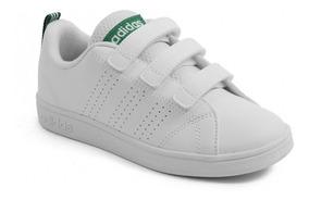 super popular chic clásico excepcional gama de estilos Tenis adidas Para Niño O Niña Color Blanco Advantage Escolar