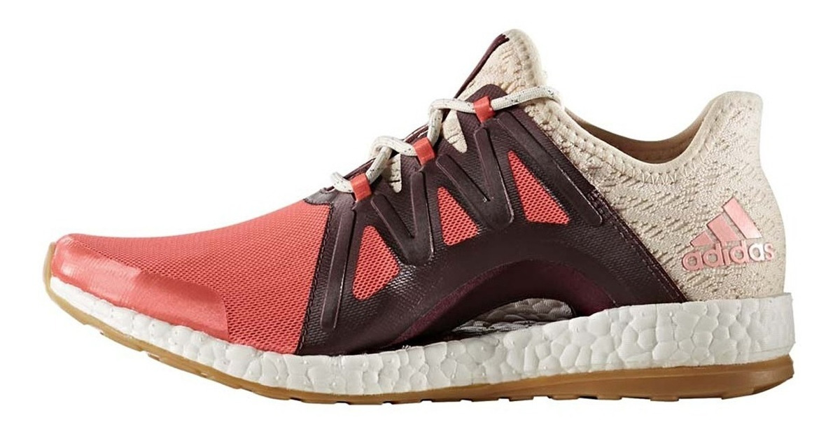 Mujer Adidas Pure Boost Xpose Clima Zapatillas Running Rojas BB1739