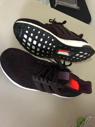 tenis adidas running ultraboost rojo con negro talla 9 mex