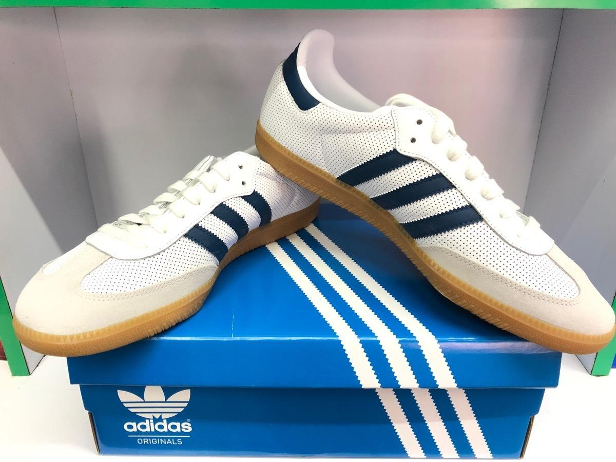 Tenis adidas Samba Og Blanco/azul No. 8.0 Mx Originales