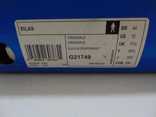 tenis adidas skateboarding silas  preto  44 original