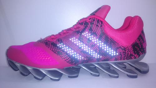tenis adidas springblade rosa/negro dama