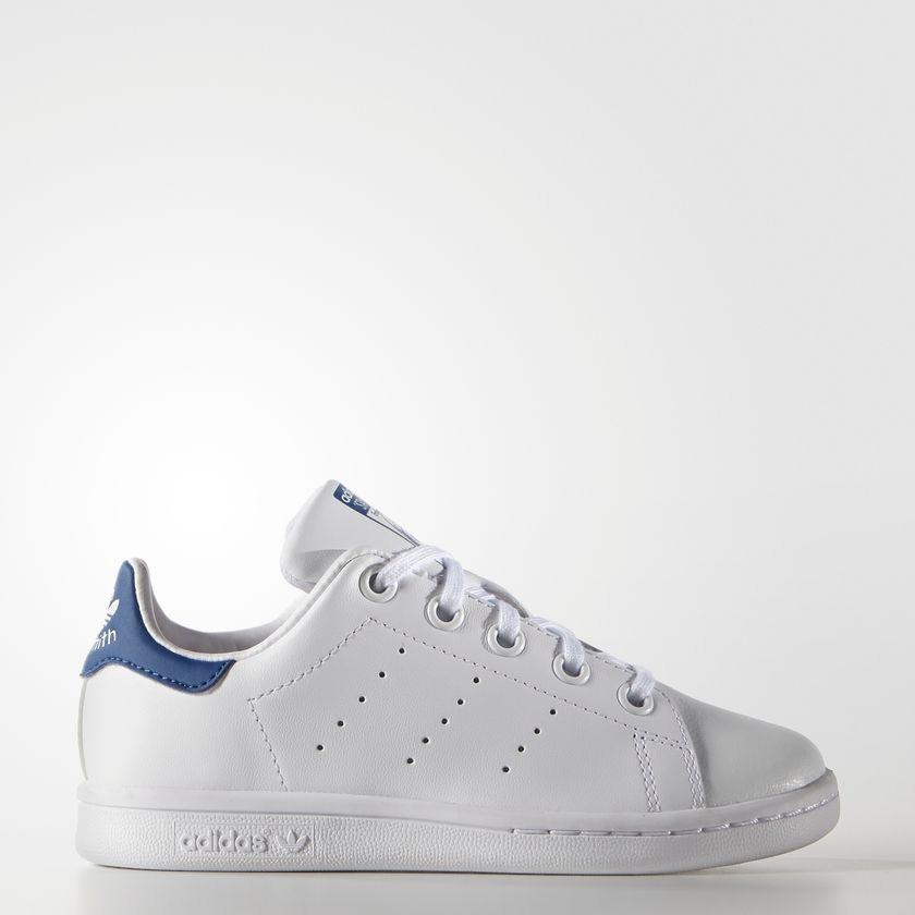 e43fc8989fc Tenis adidas Stan Smith Blanco azul Jr -   909.00 en Mercado Libre