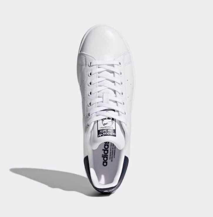 dbb730f54a1c1 Tenis adidas Stan Smith Blanco azul piel  8 Y 8.5 Mex C Caja ...