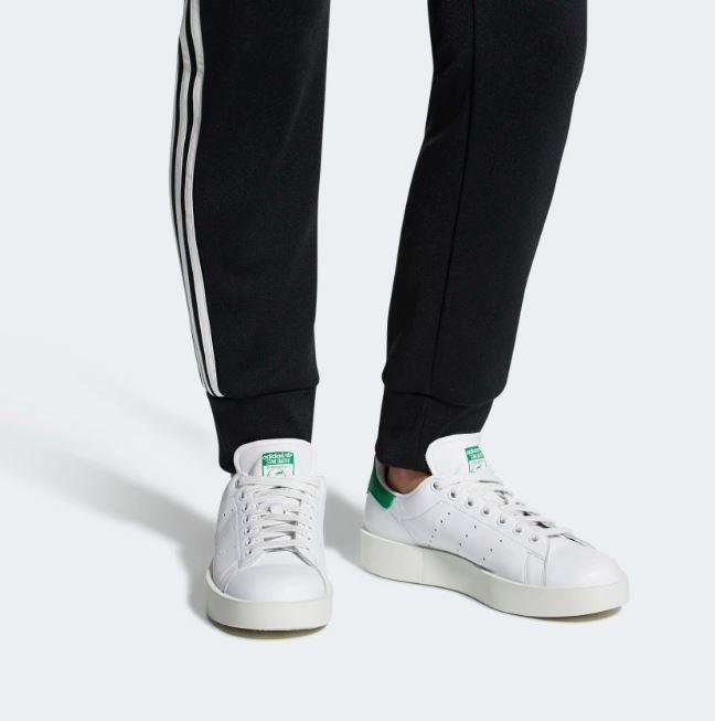 Tenis adidas Stan Smith Bold W Blanco Verde Mujer Originales