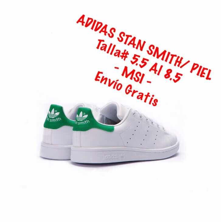 c0930c019c2 Tenis adidas Stan Smith Hombre/blanco/ Piel #5 Al 8.5 Mex ...