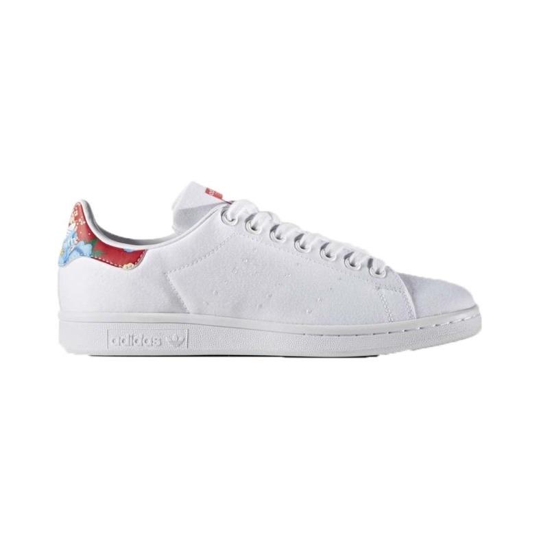 Tenis adidas Stan Smith Originals Mujer Blanco Flores Bb5157