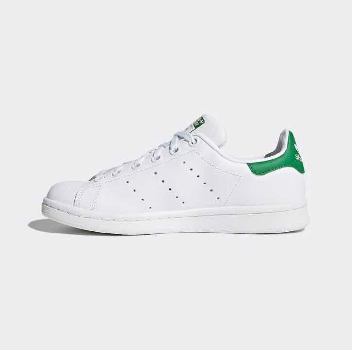 Tenis adidas Stan Smith Piel. Blanco  Verde ( Todos Los ... d02c7a6940746