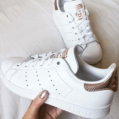 tenis adidas stan smith rose gold dama