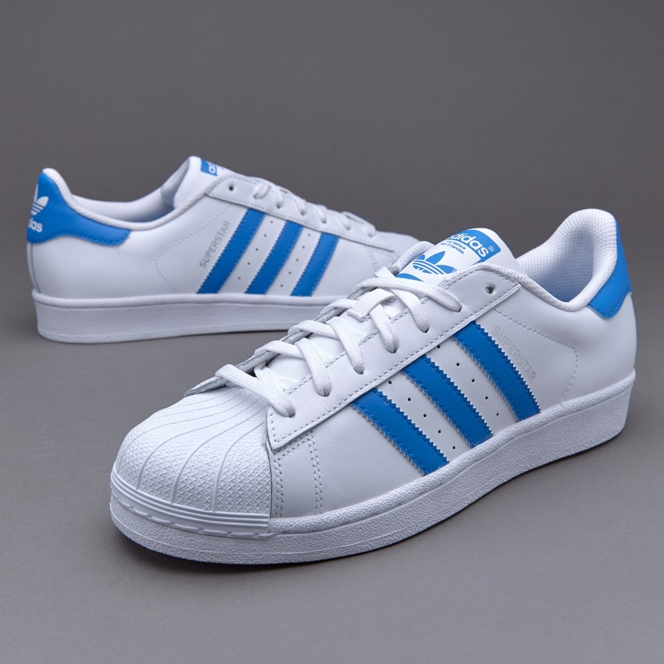 adidas superstar blanco azul