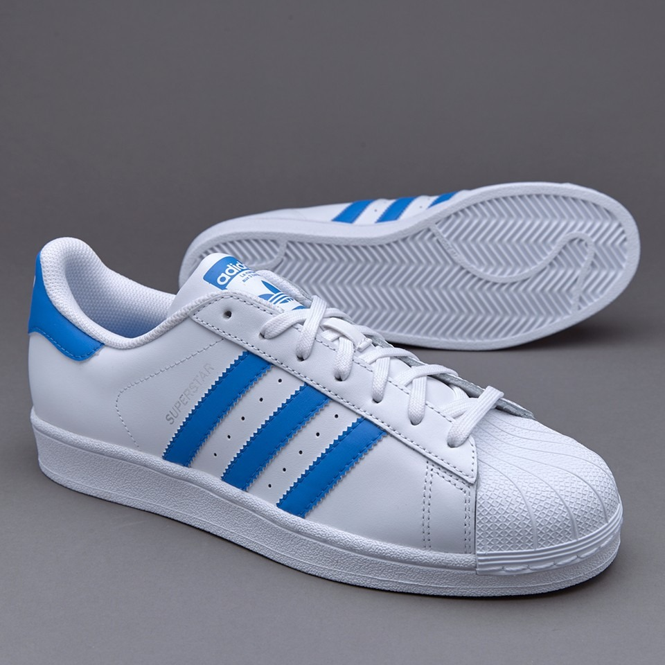 adidas superstar blaco y azules