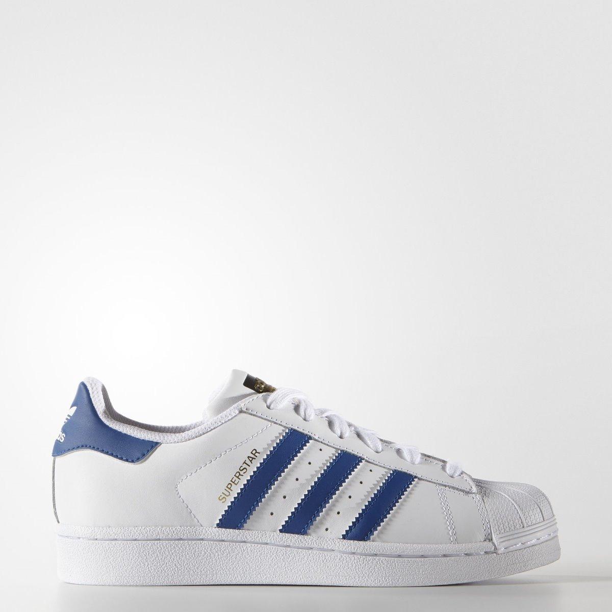 49bdde78 tenis adidas superstar blanco-azul jnr-dama concaja original. Cargando zoom.