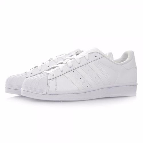 tenis adidas superstar blanco b27136 de piel totalmente orig