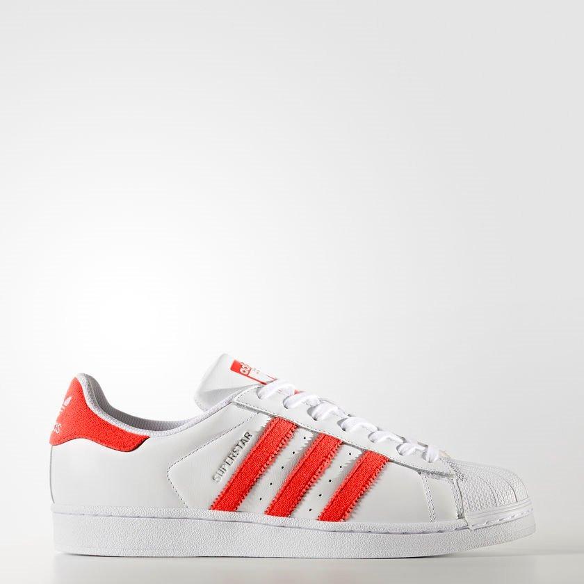 adidas superstar blancos con rojo