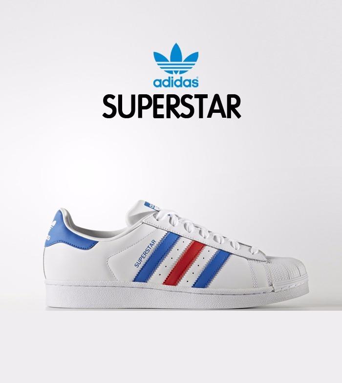 Tenis Envió Gratis Adidas Concha Superstar Multicolor Blanco Pk8Onw0