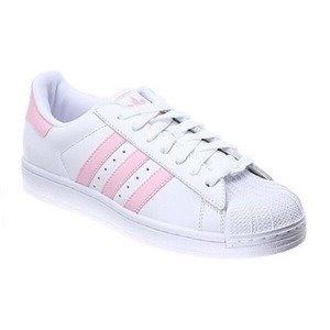 adidas superstar blancas con rosado