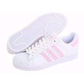 Tenis adidas Superstar Blanco/rosa Talla # 2.5 Original