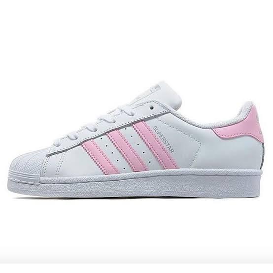23100a8fedbbe Tenis adidas Superstar Blancos Rayas Rosas Pastel Originales ...