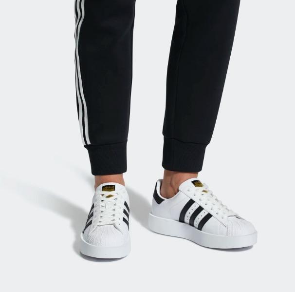 adidas superstar bold platform blancas