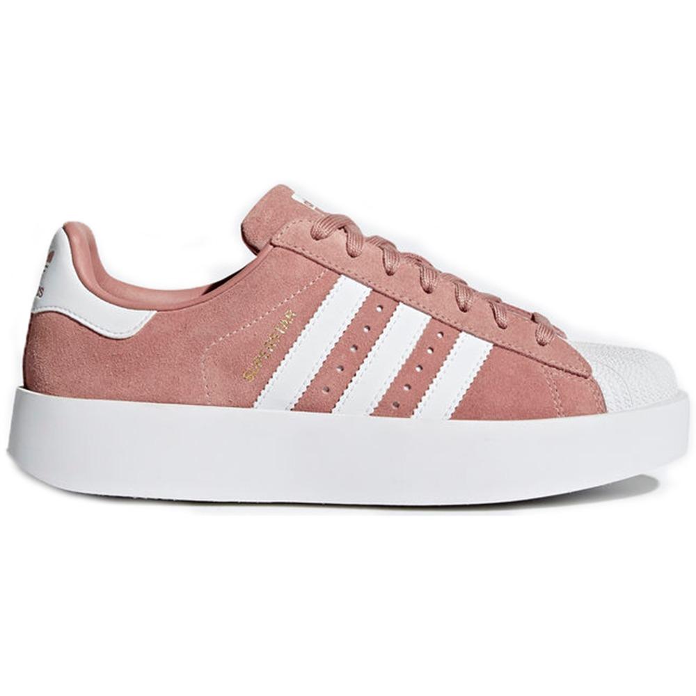 f2c59668ae tenis adidas superstar bold w pink white rl13. Carregando zoom.
