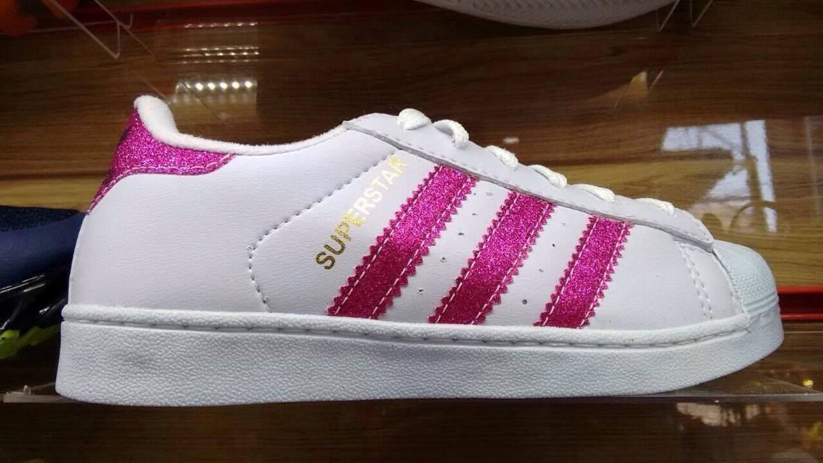 tenis adidas rosa com prata