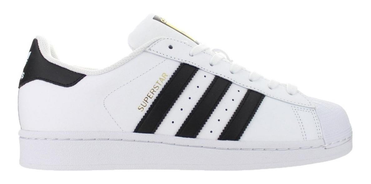 Tenis adidas Superstar Clasica Blanca Negra Adulto