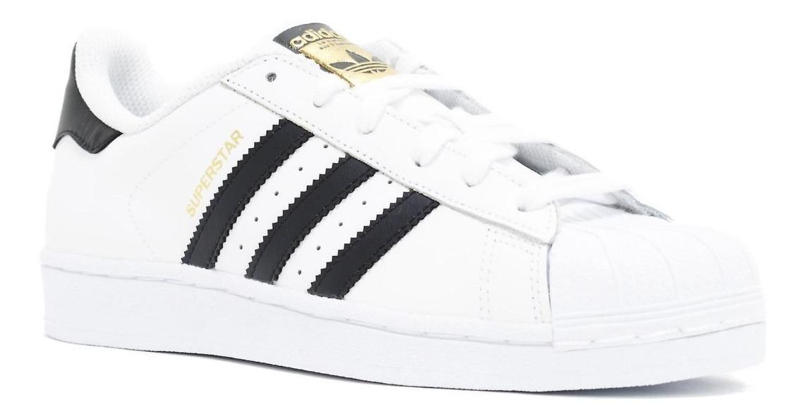 tenis adidas superstar negro con blanco