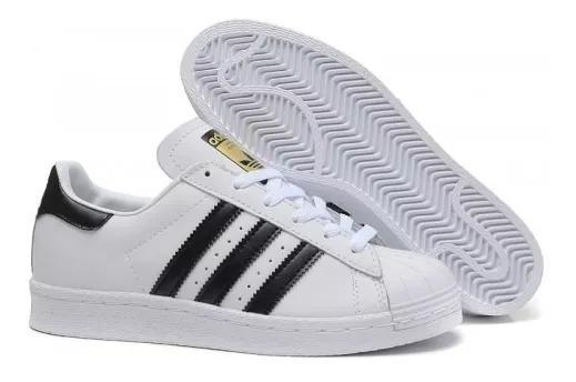 Tenis adidas Superstar Clasicos Dama Concha Mujer Blancos