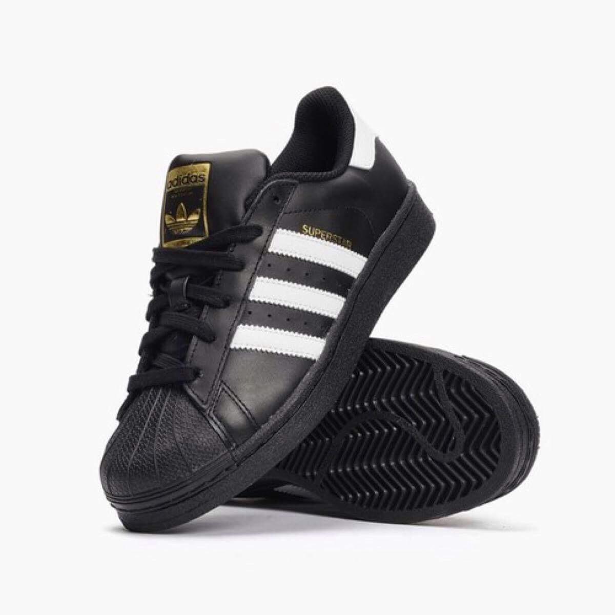 zapatos adidas superstar en negro
