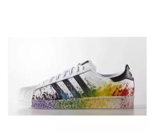 a83a55fce Tenis adidas Superstar Colorido Original Pride Pack - R  209