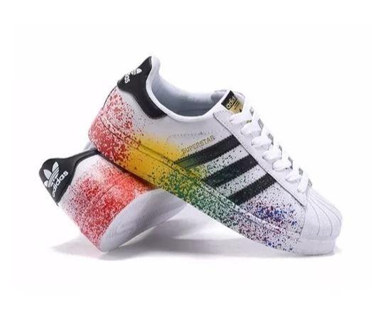 sports shoes fe694 2853f tenis adidas superstar colorido original respingo de tinta