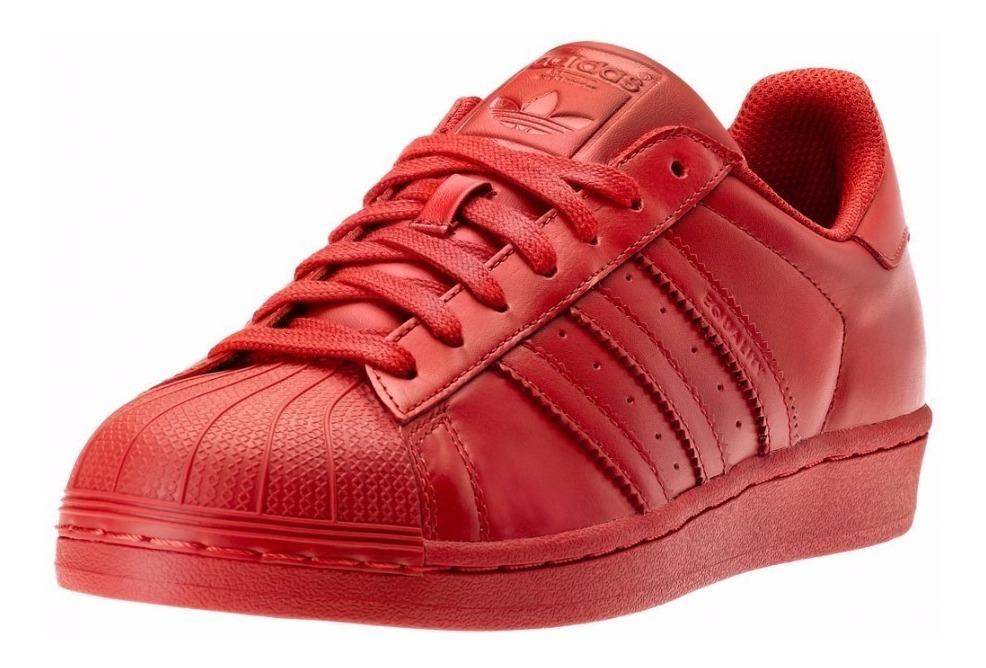 Tenis adidas Superstar Concha Rojo Original-nuevos Dama