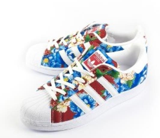 adidas superstar floral mujer