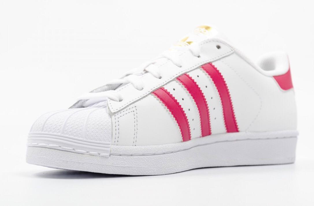 adidas superstar linias rosas