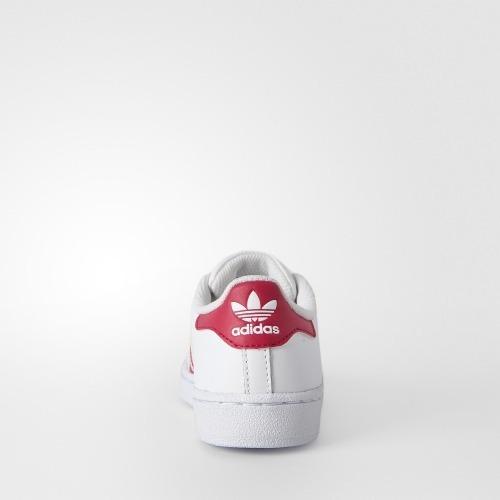 d213641b706 Tenis adidas Superstar Infantil Blanco Rosa18-22 Original Zx ...